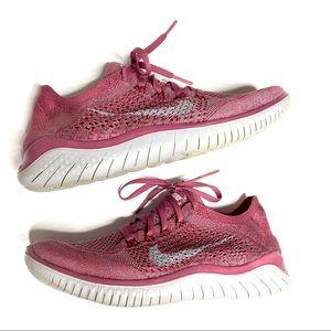 Nike Free RN Flyknit running shoe purple sneaker